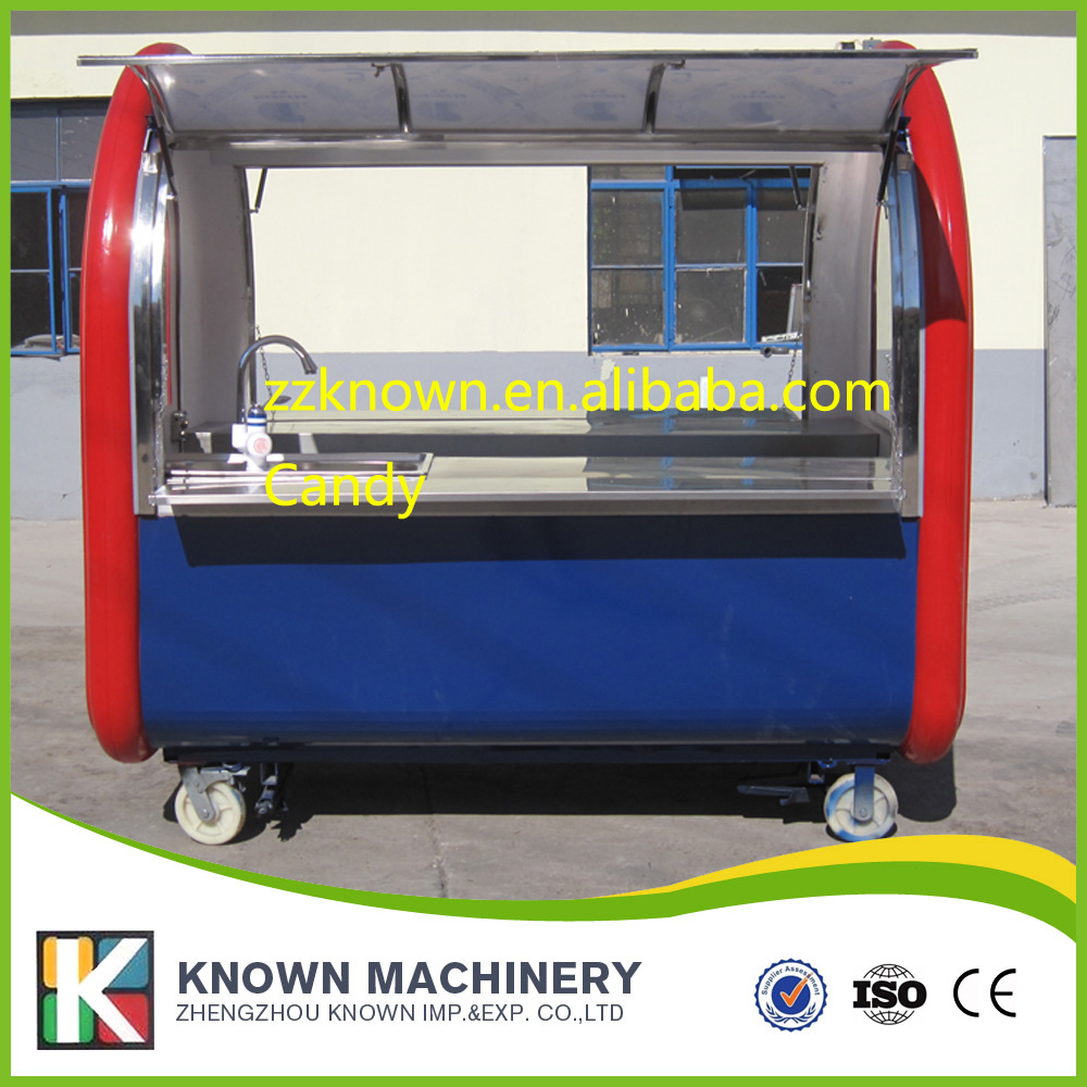 mobile food carts/trailer/ ice cream truck/snack food carts customized for sale with free shipping multifunctional mobile food trailer cart fast food kitchen concession trailer