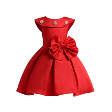 Kids Party Dresses For Girls Sleeveless Princess Dress  New Children Wedding Costume Prom Gowns