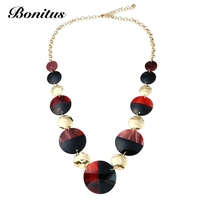 [Bonitus Jewelry Store]2017New Arrival Fashion Statement Long Necklaces High Polished Lucite Plastic For Women Neck HOT 06N3092