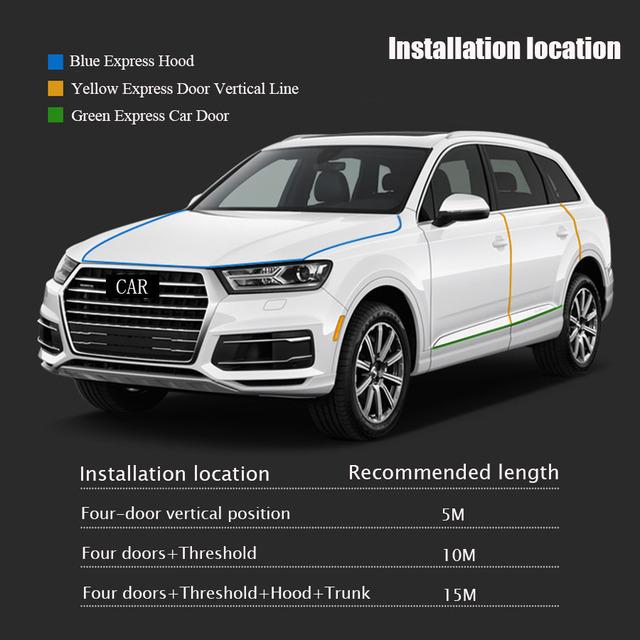 2018 VVVIST Car Interior Mouldings Door Scratch Protector Edge Guard Cover Crash Bar Anti Collision Sticker Strip Auto Styling