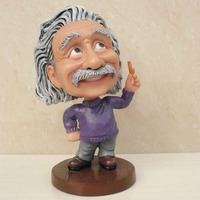 Free Shipping Resin Crafts Einstein Bobble Head Famous People Bobblehead Souvenir Home Decoration Figure Sculpture