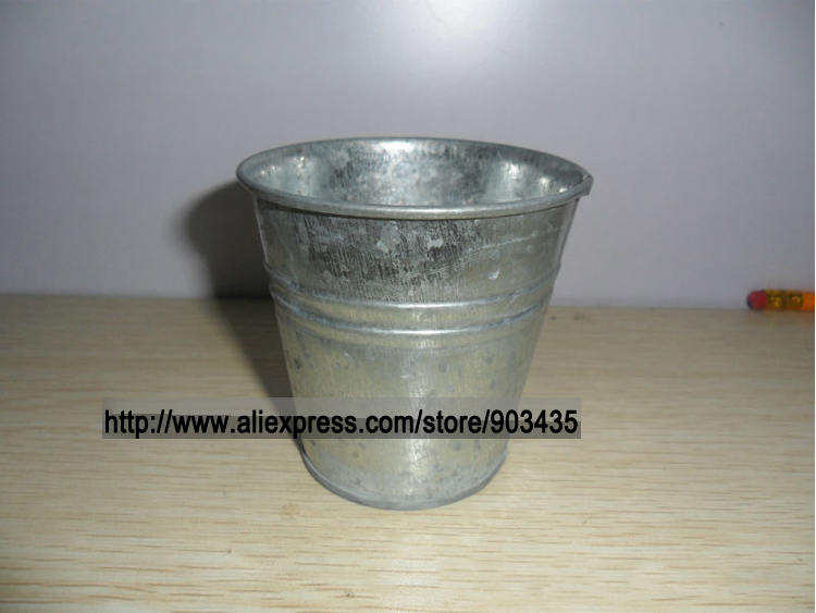 Silver Metal Pot Perfect For Plant Arrangement Small Gift