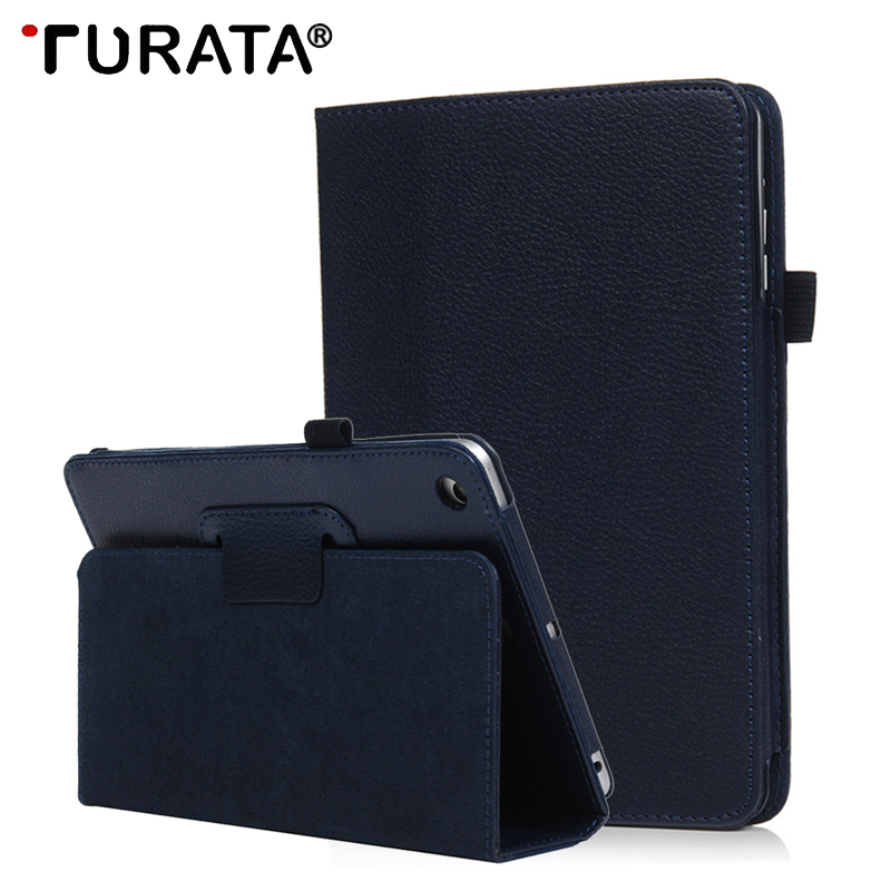 Turata Flip Litchi PU Leather Case Cover For Apple ipad Mini 4 Protective Cases Funda Auto Sleep /Wake Up Smart Stand Holder