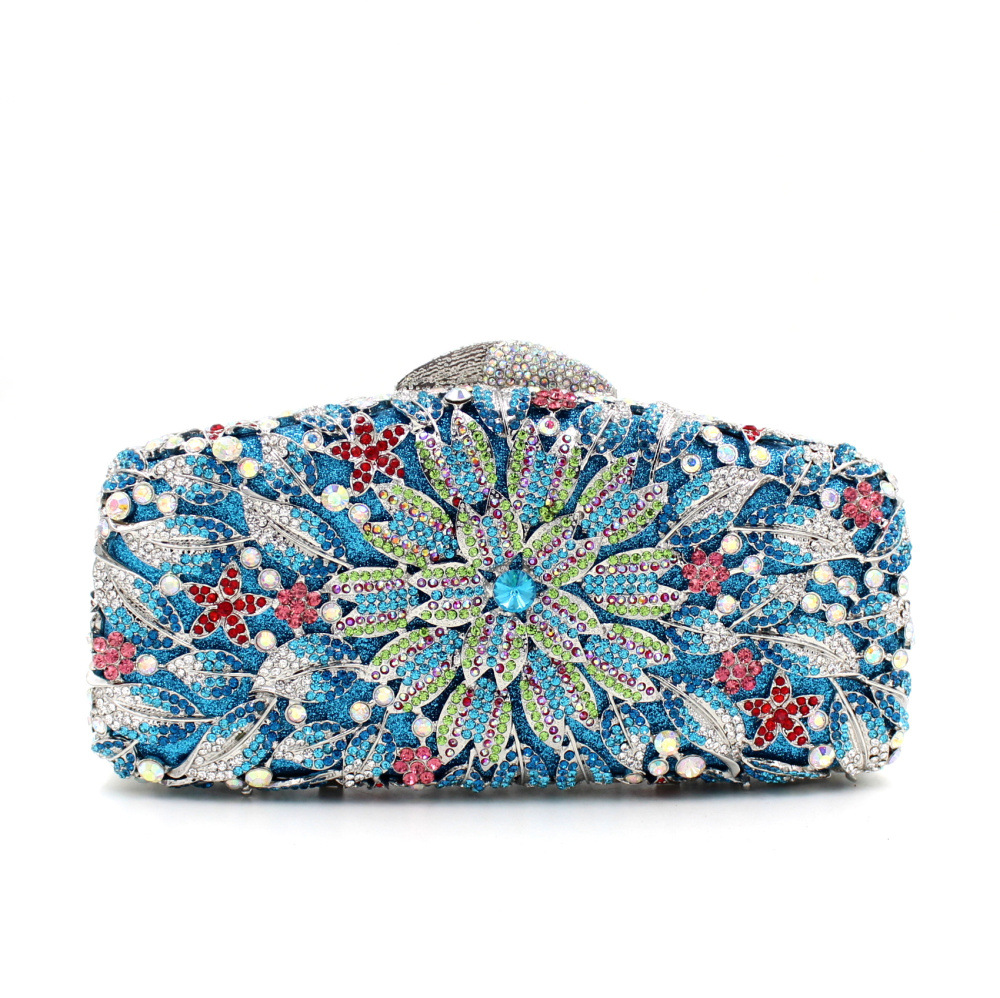 The Direct Selling New Arrival Supply Of 2017 European High-grade Diamond Flower Evening Bag Full Of Luxury Dinner Drill Hand direct selling rw7 10 200a outdoor high voltage 10kv drop type fuse