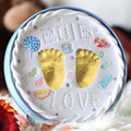 Очаровательные Детские Handprint and Пакет След Память Сохраняет Бесценные Воспоминания Non Toxic and Safe Клей Большой Подарок для Ребенка