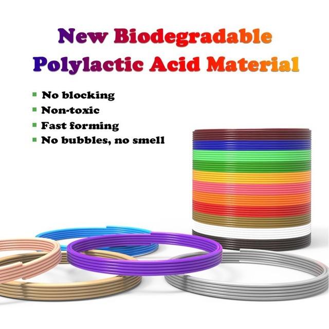 Dikale 3D Pen Special 1.75mm PLA Filament 3D Printing Material 3D Printer 12Color Refills Modeling Stereoscopic No Pollution 36m