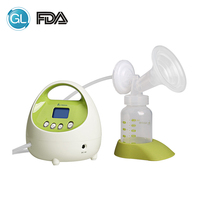 GL FDA Electric Breast Pump Milk Extractor Breast Milk Feeding Pump Powerful Large Suction LCD Display US Plug with Free Gift