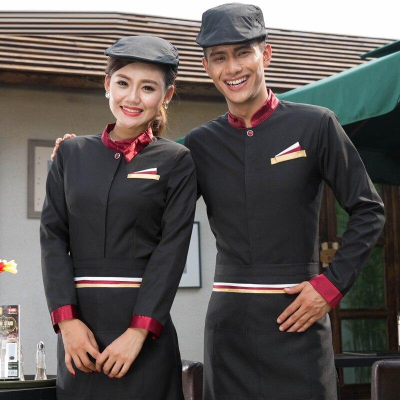 Expressief (10 Set-shirt & Schort) Take-away Werkkleding Een Fast Food Restaurant Overalls Vrouwelijke Lange Mouwen Barman Werkkleding Ober Uniform Fabrieken En Mijnen