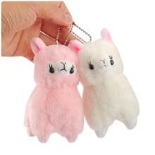 Новое поступление, плюшевая игрушка альпака, милый мультяшный розовый, бежевый, Amuse, альпака, мягкая плюшевая игрушка, куклы, сумка для ключей, подвеска, 10 шт./лот, 12 см
