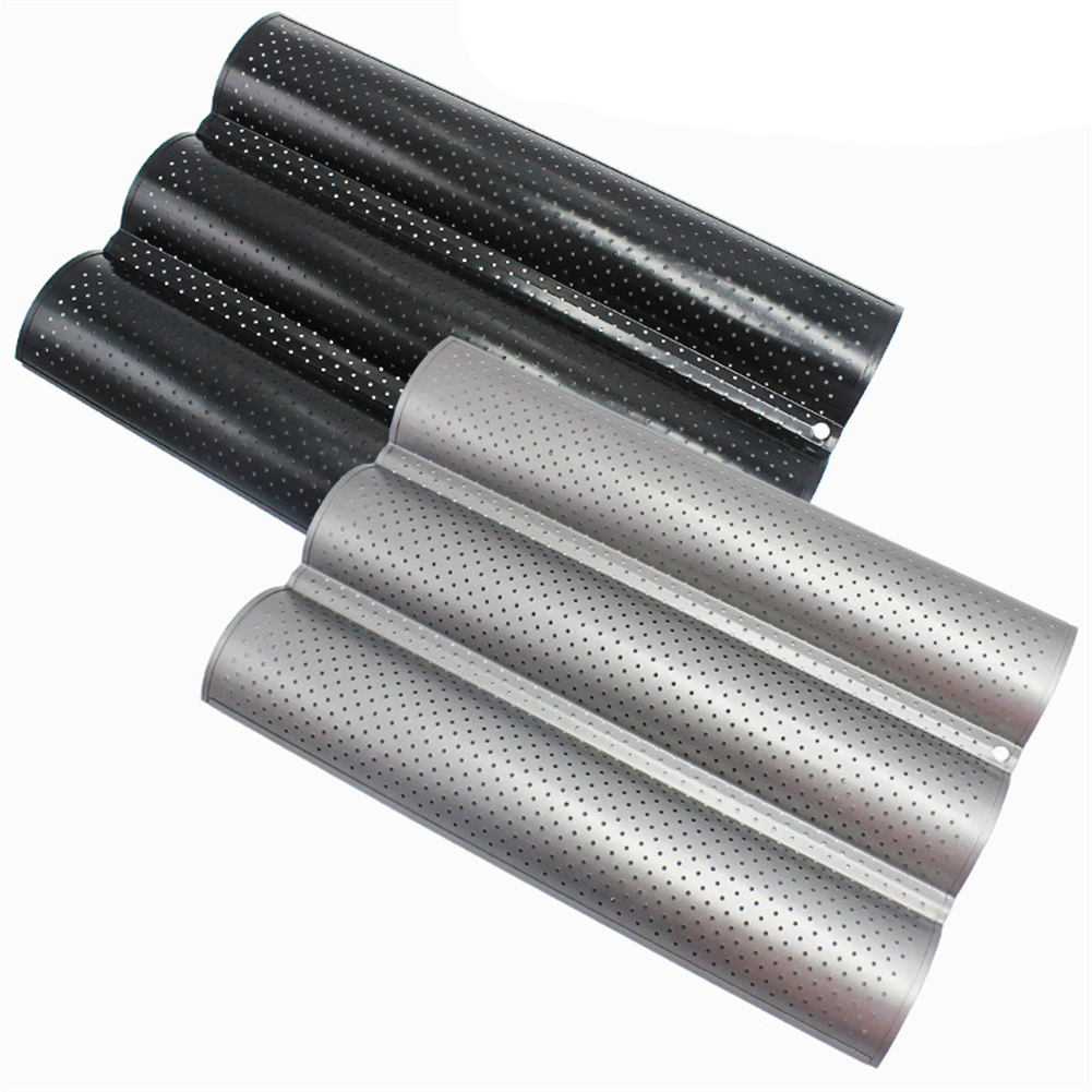 French Bread Baking Mold Bread Wave Baking Tray Cake Baguette Mold Pans 2/3/4 Groove Waves Bread Baking Tools