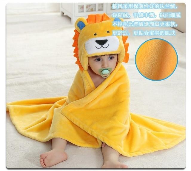 Accessoires de Photo dessin animé pour bébé   Couverture de réception, flanelle, mode Design Lion jaune, nouveau-né, Robe de couchage