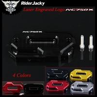 Laser Logo Black Motorcycle CNC Aluminum Front Brake Fluid Reservoir Cover Cap For HONDA NC750X NC750