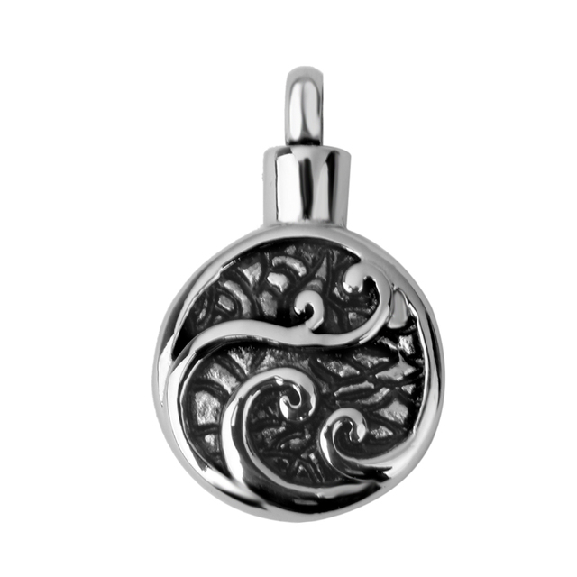 Round Patterned Memorial Pendant