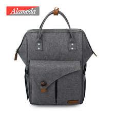 Alameda Fashion Mummy Äitiyslaukku Monitoimiratti Diaper Bag Backpack Nappy Baby Bag kanssa lastenrattaat Baby Care