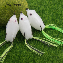 POETRYYI Fishing Lure Luminous thunder frog 5.5cm / 5cm Double hook lure fishing bait Frog lures P30