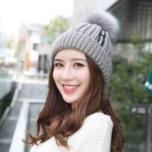 Brand Winter Beanies Fashion Warm Cap Female Hat Knitted Elasticity Knit Beanie Hats Women