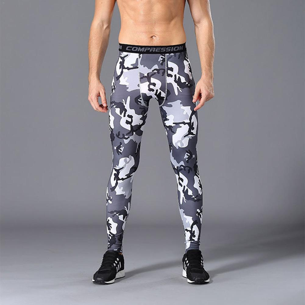US $8.49 31% OFF|S 3XL Running Fitness Sports Pants Men Compression Tights Men's Quick drying Outdoor Training Basketball Pants Tight Wear Pants in