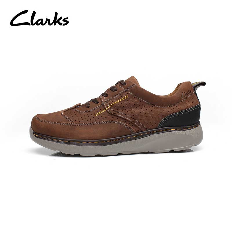 Clarks Leather Casual Shoes Luxury Brand 2019 Mens Loafers Moccasins Breathable Slip on Brown Driving Shoes Plus Size 39 44