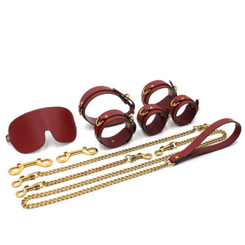 Exotic accessories Bdsm Bondage Adult Games Sex Toys Collar For Couples Bundled Bondages Femdom Slave Wife Sexy Shop Handcuffs erotic sex toys games for couples woman bdsm bondage elastic strap sexy pu leather collar traction rope adult exotic accessories
