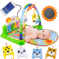 Baby Piano Music Playmat Toys Activity Infant Kids Toys Sports Mats Gym Educational Rack Gym Toys Soft Baby Play Mats 0 36Months