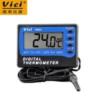 Wholesale 1pc Vici VICHY TM803 LCD Digital Fridge Freezer Thermometer Temperature Meter With Alarm Measuring 50
