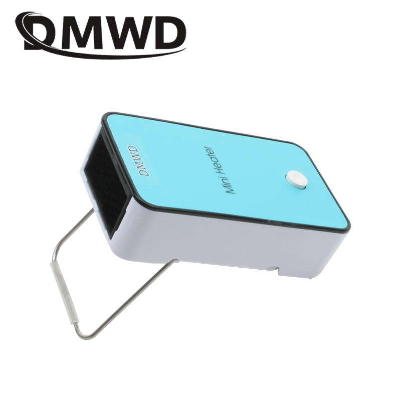 DMWD Portable MINI Heater for warming hand Electric Air Warmer Heating Winter Keep Warm Desk heating Fan for Office Home EU plug dmwd mini portable fan heater hand electric air warmer heating winter keep warm desk fan for office home 50w overheat protection