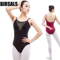 High Quality Camisole Adult Ballet Leotard With Mesh Front Black Cotton Spandex Ballet Clothes For Sale