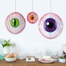 Set of 3 Mix Size Spooky Halloween Honeycomb Eyeballs DIY Eyeball Balloons Fun Craft Creepy Party Decorations