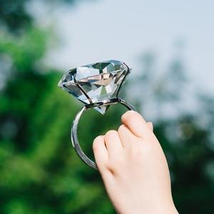 Image 2 - Kreative Transparent Großen Kristall Diamant Hochzeit Ornament Prop Zu Geben Freundin Geburtstag Valentinstag Geschenk Home Kunst Handwerk
