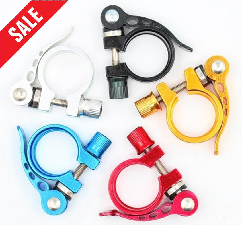 Aluminum Alloy Seatpost Clamp Quick 25.4 28.6 31.8 34.9mm MTB Bike Cycling Saddle Seat Post Clamp Quick Release Spare Parts(China)