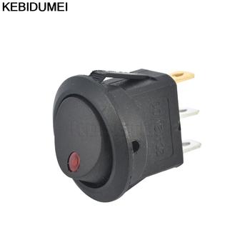 4 kolory 12v przełącznik SPST LED praktyczne światło punktowe łódź samochodowa okrągły kołyskowy ON OFF światło punktowe LED światło punktowe przełącznik tanie i dobre opinie Push Button Switches Z tworzywa sztucznego Przełączniki KBT001129 Pokrętło przełącznika