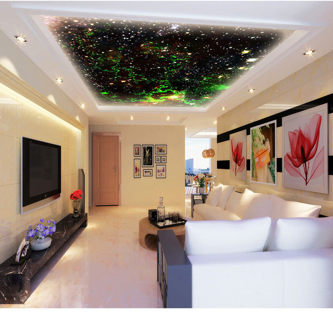 new large wall mural wallpaper living room bedroom wallpaper picture TV background wall three-dimensional wallpaper Fantasy Sky beibehang customize universe star large mural bedroom living room tv background wallpaper minimalist 3d sky ceiling wallpaper