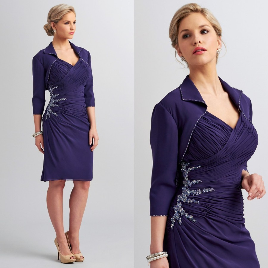 Mother of The Bride Short Dresses with Jackets Promotion-Shop for