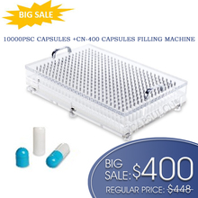 גדול מחיר! CN 400 כמוסה מילוי מכונה עם 10000 pcs מופרד גודל 0 מרובה צבעים כמוסות