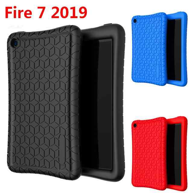 Fashion Tablet Cover Case for Amazon New Fire 7 Tablet 7 Inch Silicone Protective Case r20