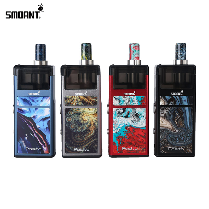 In StocK!! Smoant Pasito 1100mAh Pod Vape Kit 25W Smoant MOD 3ml Cartridge Mesh 0.6ohm/Ni80 1.4ohm Coil Vaporizer VS DRAG Nano