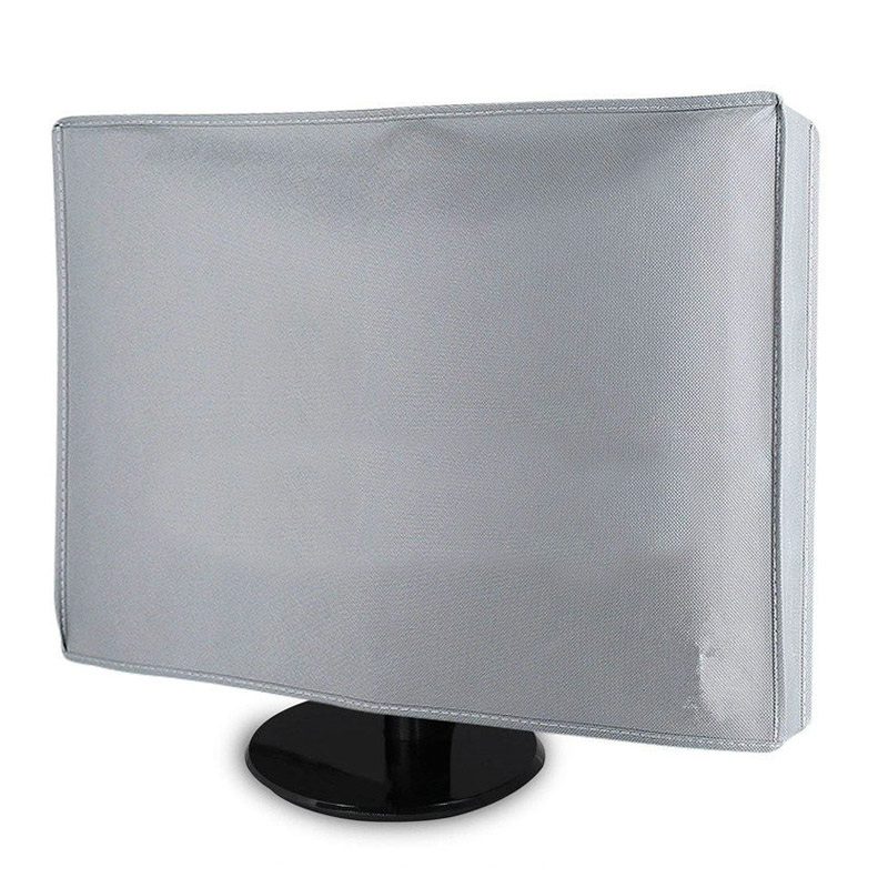 """21"""" 24"""" 28"""" 34"""" Home PC Desktop Computer Monitor Dust Cover Non-woven Fabric Craft LCD Screen Protector Case Grey GL001"""