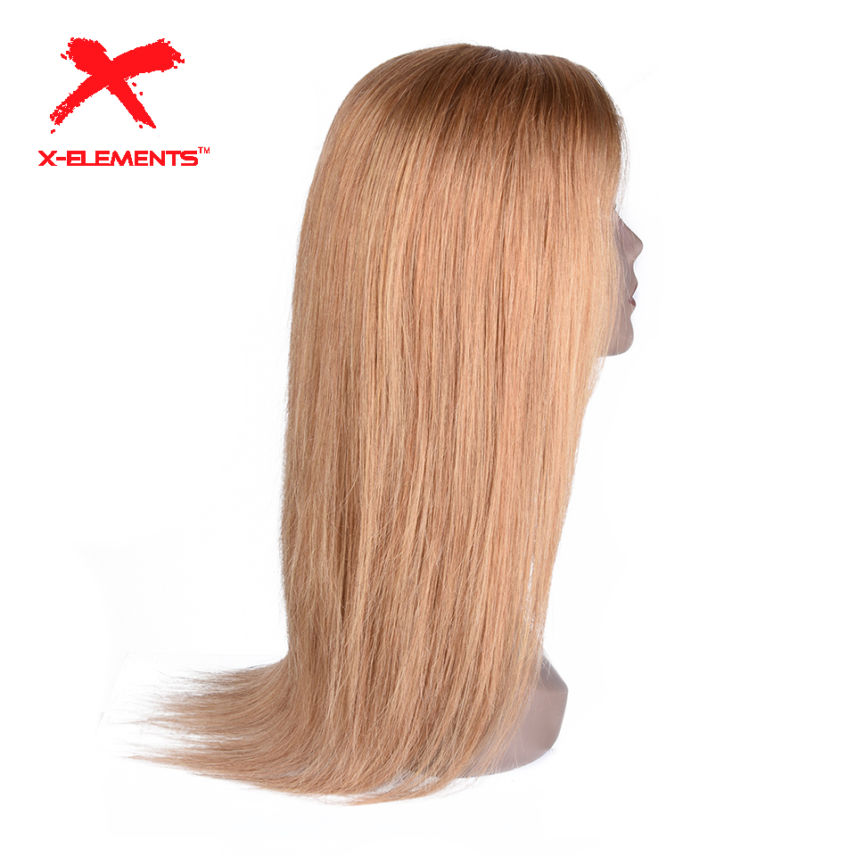 Malaysian Straight Lace Front Human Hair Wigs with Baby Hair 4x4 Lace Closure Wig Remy Ombre Blonde Color Wigs 5 Color to Choose(China)