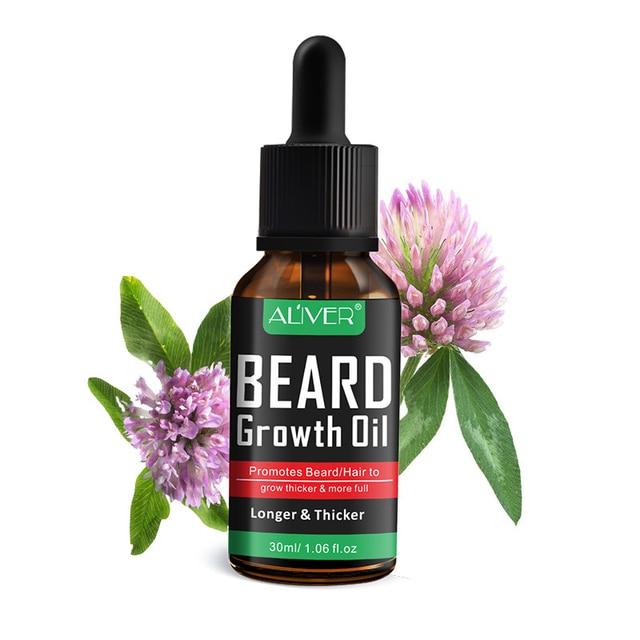 NEW Natural Organic Beard Liquid Beard Growth Conditioner Grooming Moisturizing Moustache Care 1