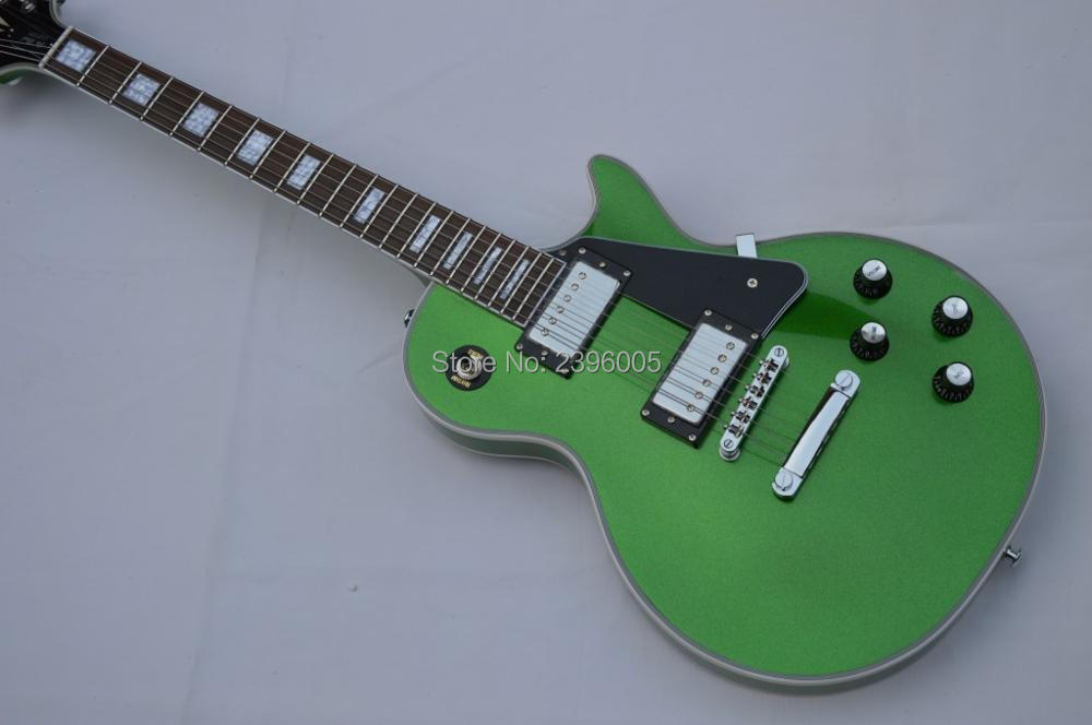 New arrival Custom Shop Metal green color LP Custom electric guitar 1960 issued guitar free shipping Lp guitar hot sale new arrival custom 22 lp guitar with tin top custom guitar & kit available