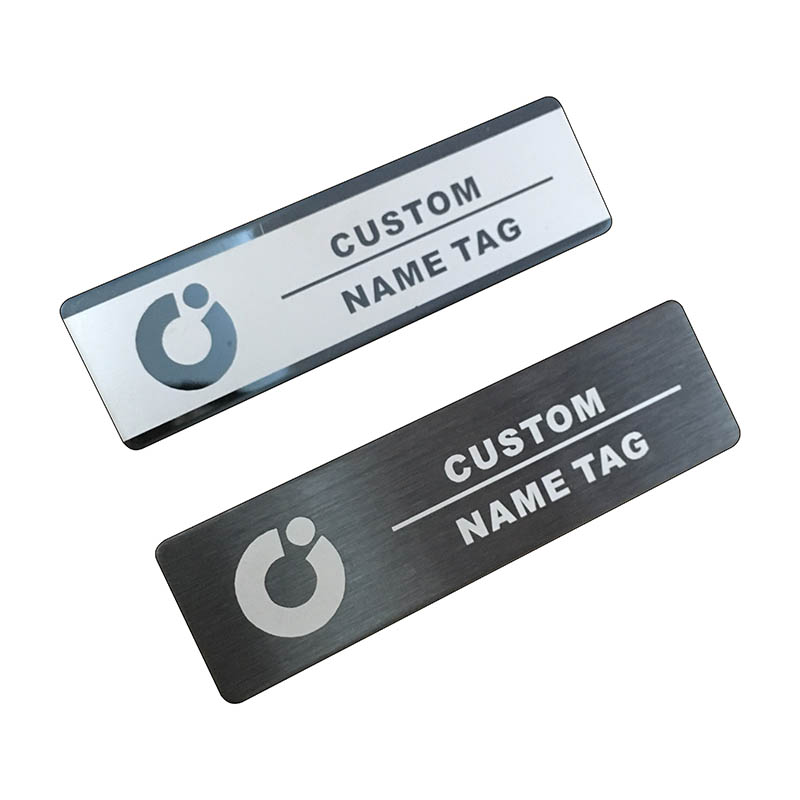 10pcs custom name tag personalized name badge id business laser name plate badge with magnet or pin  (30)