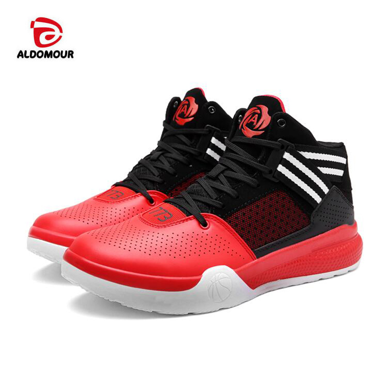 12fa3c71047f ALDOMOUR Lifestyle Basketball Shoes Lovers Newest 2018 Basketball Sneakers  Men and Women Boots Lace up Basket Homme Four Season-in Basketball Shoes  from ...