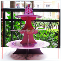 Free Shipping 2X Pink Purple Princess Castle Cupcake Holder Birthday Party Cupcake Holder Birthday Accessories