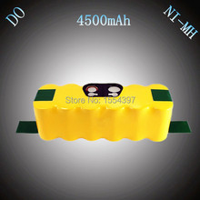 14.4V NI-MH 4500mAh Vacuum Cleaner Rechargeable Battery Packs Replacement for iRobot Roomba 510 520 530 550 560 610 780 760 8050