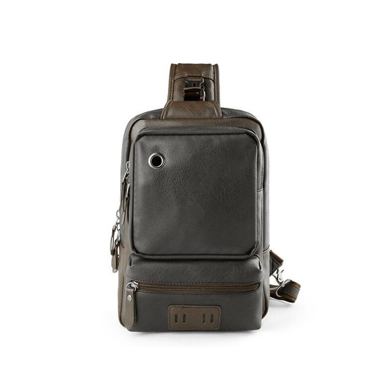 Image 3 - Brand Men's Shoulder Bag Vintage Men Crossbody Bag Men Chest Bags Casual Fashion PU Leather Men Messenger Bag L51-in Crossbody Bags from Luggage & Bags