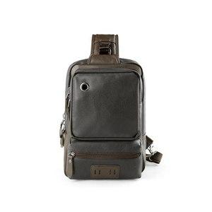 Image 3 - Brand Mens Shoulder Bag Vintage Men Crossbody Bag Men Chest Bags Casual Fashion PU Leather Men Messenger Bag L51