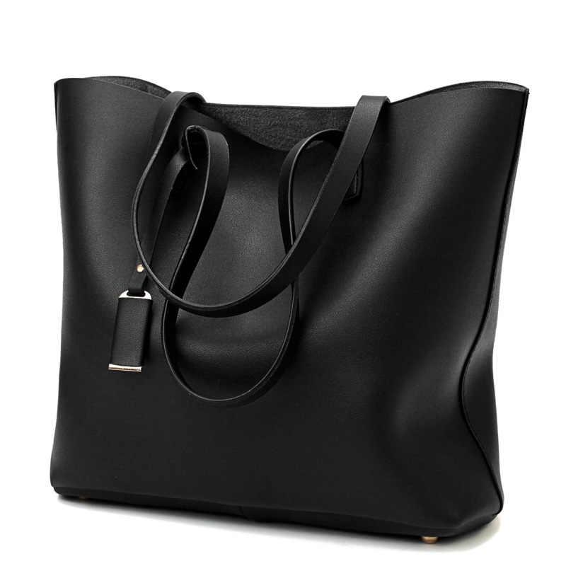 bfd7b97e5154 Для женщин композитный мешок кожаные сумочки роскошные женские сумки с  кошелек карман на плечо большая сумка