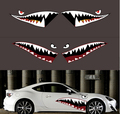Personalized 1Pair 150cm American Air Force Garland Sticker Car Styling Accessory Funny Shark Mouth Car Sticker Car Body Decals
