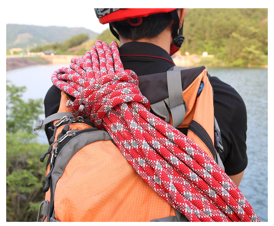 Xinda acampamento escalada corda 12mm estática corda