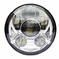 One Piece 45W 5 75 Inch 5 3 4 LED Lamp Chrome Mirror Wrangler Headlights For